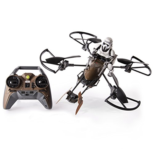 Speed through the forests of Endor with your very own Star Wars Imperial Aratech 74-Z Speeder Bike Drone! The Star Wars Speeder Bike Drone from Air Hogs puts you right in the middle of the Galactic Civil War, with an authentic, detailed speed...