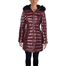 Calvin Klein Womens Faux Fur Quilted Puffer Coat