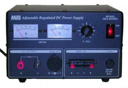MFJ-4035MV Linear power supply, 1-14VDC, 35A, Mtr