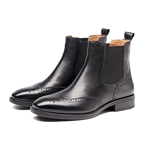 caldo faux stivali tacco casuale velvet addensare grosso comfort pelle black plus imbracatura donne caviglia foderato piatto xzqRw6A