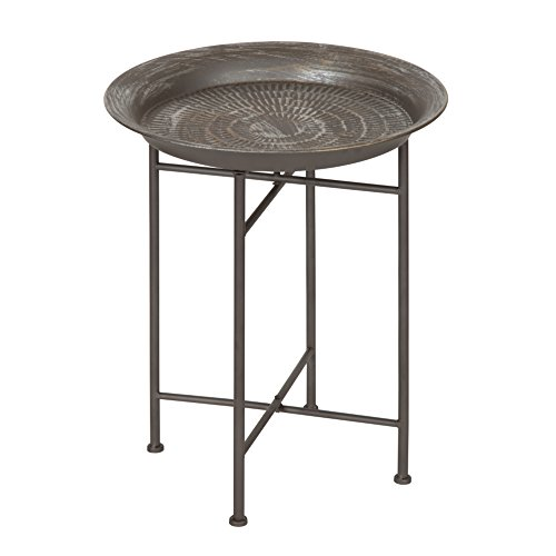 Kate and Laurel 212006 Mahdavi End Table Pewter