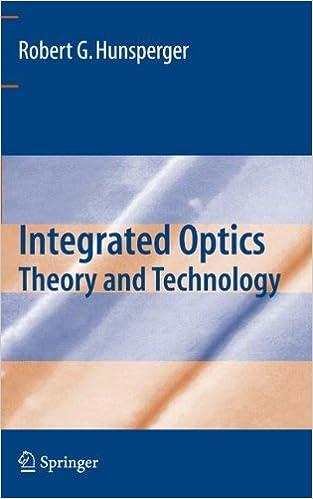 1 integrated optics by robert g hunsperger