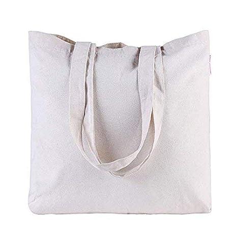 b53a8b07f4 Borsa di tela lavabile tela shopping borsa di tela borsa della spesa  riutilizzabile borse shopping bianco