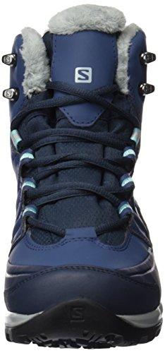 Salomon L39183900 - Botas de senderismo Mujer Azul (Deep Blue /         Slateblue /         Bubble Blue)