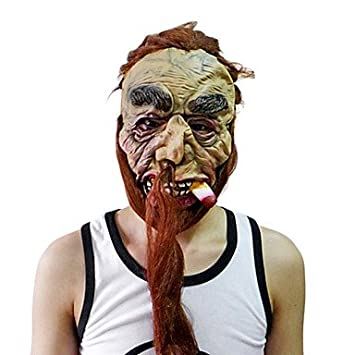 Fumar DIABLO máscara con cabeza para fiesta de disfraces de Halloween