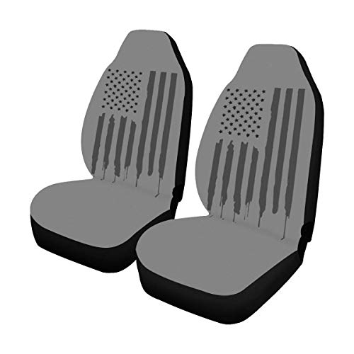 INTERESTPRINT Stars and Stripes American Flag Car Seat Covers Set of 2 Protector