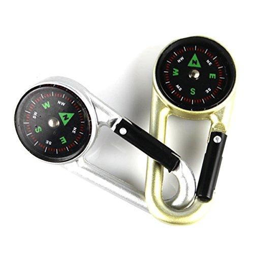 LaDicha Deux Couleurs Mousqueton Metal Compas Navigation Extérieure Boussole-Or