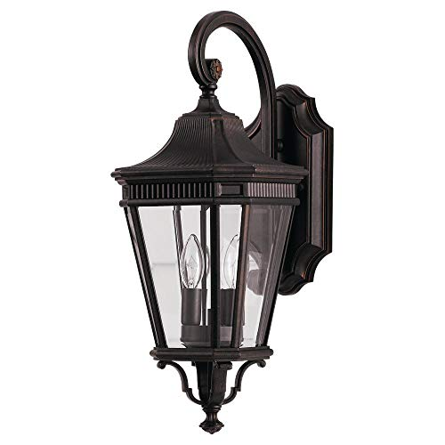 Feiss OL5401GBZ Cotswold Lane Outdoor Patio Lighting Wall Lantern, Bronze, 2-Light (9