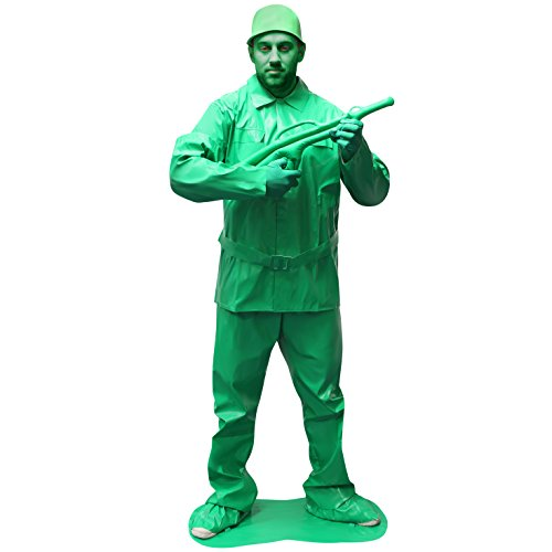 Morphsuits Men's Morphcostume Co Saving Private Morph Unisex Costume Toy Solider, Green, (Army Man Costume)