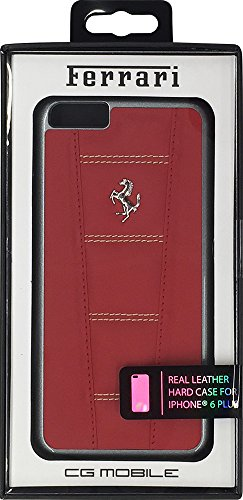 CG Mobile 458 Leather Hard Case for iPhone 6 Plus/6S Plus - Red/Beige -
