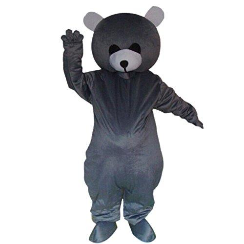 Grey Bear Mascot Costume Cartoon Halloween Party Dress Adult Size