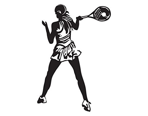 Wall Decal Tennis Player, Color: Aubergine, 57.5x39.4 by PPS. Imaging GmbH (Image #3)