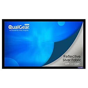 QualGear 16:9, 150-Inch 3D High Reflective Silver 2.5 Gain Fixed Home Theater Projection Screen (QG-PS-FF6-169-150-S)