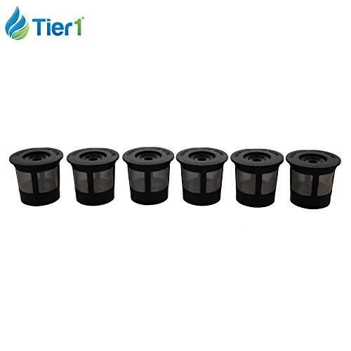 Keurig My K-Cup 5048 Single Serve Coffee Filter for K10 MINI Plus, K15, K40/45, K55, K60/65, K70/75/79 - Reuseable 6 Pack