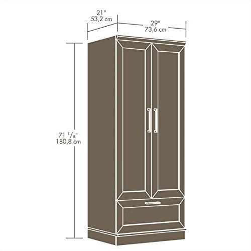 042666108621 - Sauder Homeplus Wardrobe/Storage Cabinet, Sienna Oak Finish carousel main 2