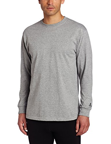 Russell Athletic Men's Basic Cotton Long Sleeve Tee, Oxford, X-Large
