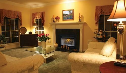 36'' Louvered Wood Burning Fireplace w/White Stacked Refractory Panels by Superior Fireplaces