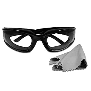 Black Onion Goggles New Unisex design. Glasses for Tear Free Chopping, Slicing and Mincing Onions.