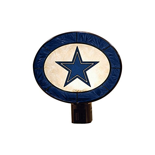 The Memory Company Dallas Cowboys Art Glass Night Light