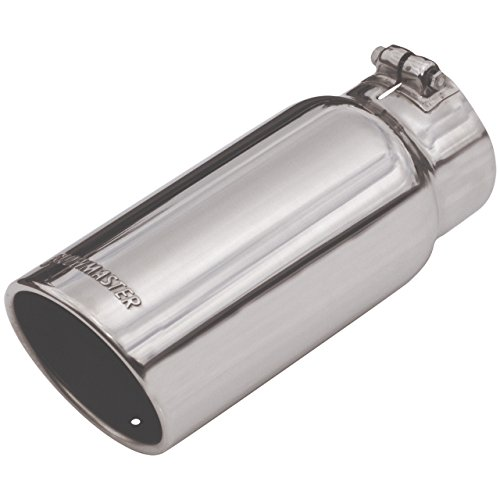 clamp on 5.00 in Tubing Rolled Angle Polished SS Fits 4.00 in Flowmaster 15368 Exhaust Tip