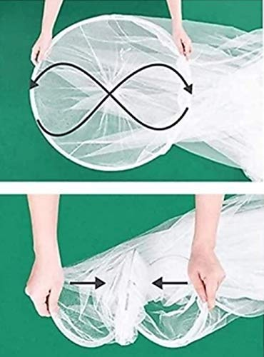 Styles Closet Polyster Round Canopy Mosquito Net(Double Bed,6.5 * 6.5 ft) ( Pink ) 2021 August Size of Double bed is 6.5*6.5 ft Mosquito net can easily accommodate bed for Queen size bed, Double Bed Key Product Features Material : Polyester. Height: Approx. 92 inches