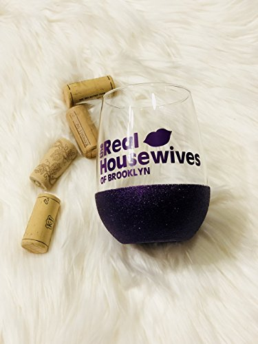 Real Housewives Glitter Wine Glass, Glitter Wine Glass, Real Housewives Wine Glass, Best Friend - Our Real Housewives