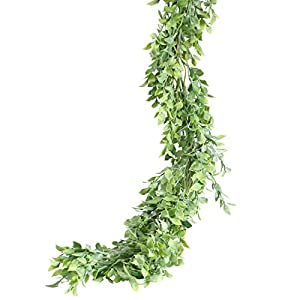 PARTY JOY Artificial Eucalyptus Garland Faux Greenery Garland Vines for Wedding Backdrop Indoor Outdoor Decor 58