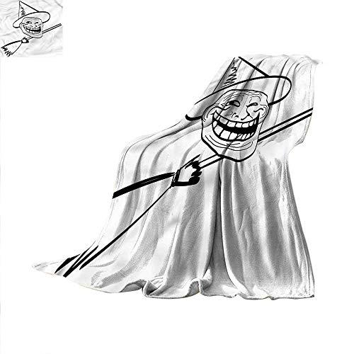 Humor Lightweight Blanket Spooky Halloween Spirit Digital Printing Blanket 80