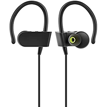 Photive PH-BTE70 Wireless Bluetooth Earbuds. Sweatproof Secure Fit Headphones for Running, Gym, Exercise. 8 Hour Battery