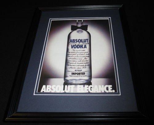 1987 Absolut Elegance Vodka Framed 11x14 ORIGINAL - Framed Elegance