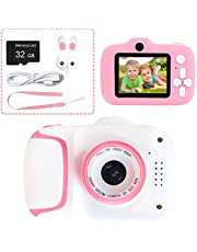 Kids Camera Digital Video Camera Child Mini Camcorder with 2.0 Inches LCD Screen, HD 40.0MP Camera, 1080P Recording Video, 8X Digital Zoom, 32GB SD Cards, Best Gift for Age 3-12 Years Old Boys Girls