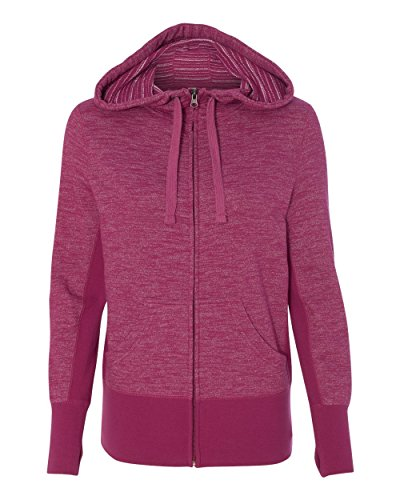 Independent Trading Co. - Women's Baja Stripe French Terry Hooded Full-Zip Sweatshirt - PRM655BZ