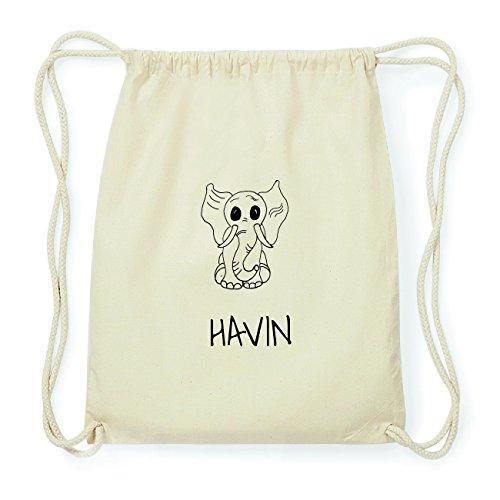 JOllipets HAVIN Hipster Turnbeutel Tasche Rucksack aus Baumwolle Design: Elefant bubxyqB