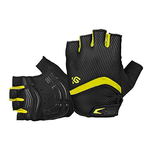 Dimensions Team Handball (eroute66 Bike Gloves Bicycle Gloves Cycling Gloves Mountain Biking Gloves with Anti-Slip Shock-Absorbing Pad Breathable Half Finger Outdoor Sports Gloves Yellow L)