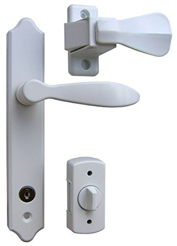 Ideal Security SK1215W Deluxe Storm Door Handle Set with Deadbolt, White by Ideal Security Inc. by Ideal Security Inc.