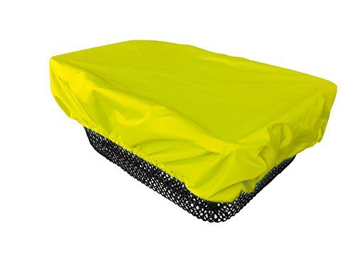 - NICE 'N' DRY Cover for front and rear Bike Basket - neon yellow