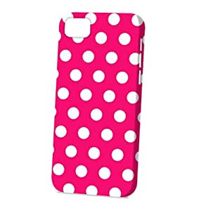 Case Fun Apple iPhone 5C Case - Vogue Version - 3D Full Wrap - Pink Polka Dots
