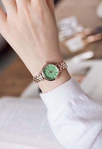 Fashion Woman Unique Gift Frosted Cut Bracelet Bangle Watch dial Student Girlfriend (ke Purple Matte dial (Green Grass) ()