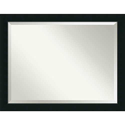 Bathroom Mirror Oversize Large, Corvino Black: Outer Size 45 x 35'' by Amanti Art