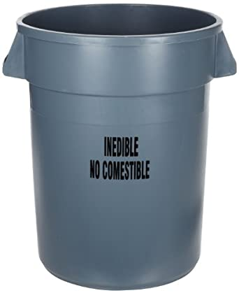 Amazoncom Rubbermaid Commercial Fg264356gray Brute Plastic Trash