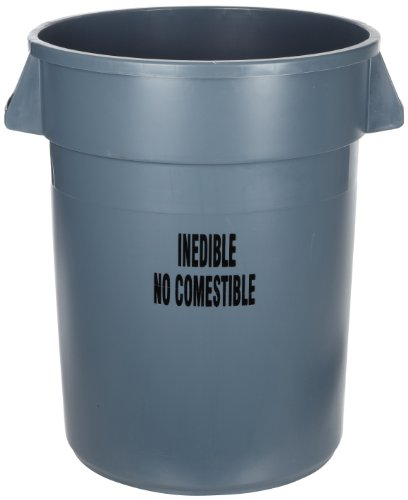 (Rubbermaid Commercial FG264356GRAY Brute Plastic Trash Can without Lid, 44-gallon, Gray)
