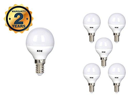 KDE - Bombilla LED Esférica 5W - Casquillo E14 - Luz natural - 4000K - 400 lúmenes - 6UD - Eficiencia energética A+: Amazon.es: Iluminación