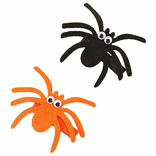 Baby Halloween Hairclip Kids Felt Hairpin Funny Spider Character Hairgrips JHH04 (Spider Set) -