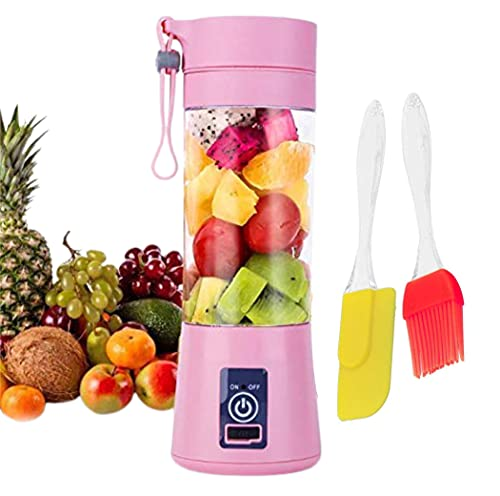 CBK™ Portable Electric USB Juicer Blender Grinder Mixer,4 Blades Rechargeable USB cable With Free Silicon Spatula Oil…