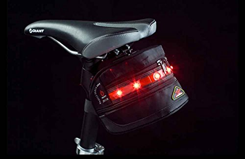 Agooding Tail Light of Bicycle Bag LED Warning Light Red