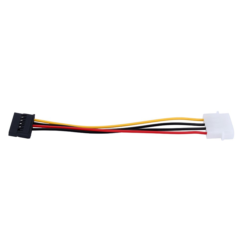 6 Inch 4 Pin Male To 15 Pin Female SATA Extension Cable Power Adapter