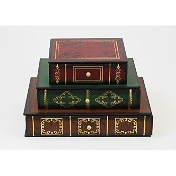 Secret Storage Box - 3-drawer X 3-Stack-Books Set Design  sc 1 st  Amazon.com & Amazon.com : Secret Storage Box - 3-drawer X 3-Stack-Books Set ...