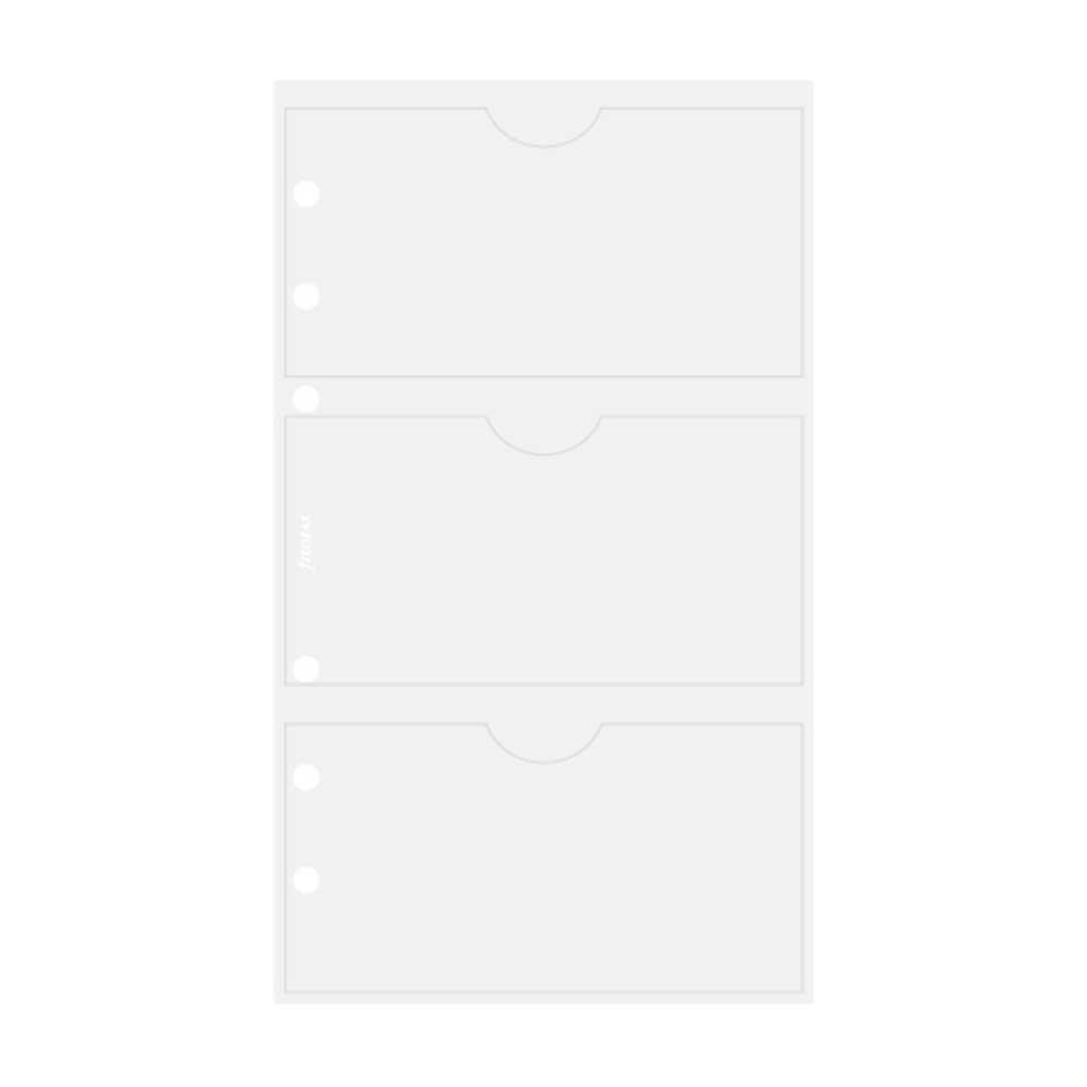 a doble cara Filofax Funda para tarjetas de visita