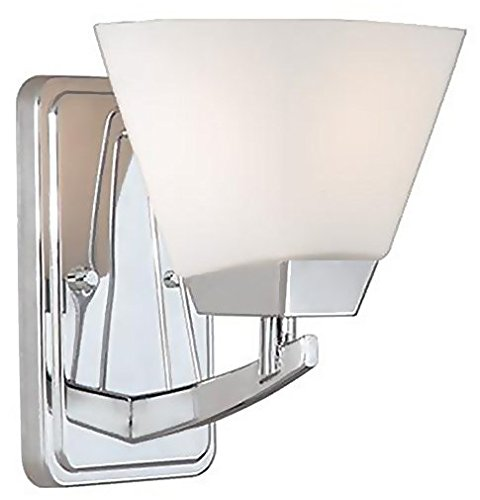 Vaxcel USA KDVLU001CH Kendall 1 Light Contemporary Wall Sconce Lighting Fixture in Chrome, (Kendall 5 Light Chandelier)