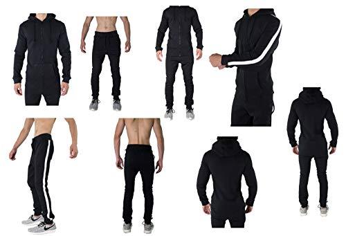 Stripe Survêtement De Pantalons Hommes Jogging Pour Black YxfxpSq